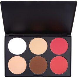 BHcosmetics Contour & Blush paleta na kontury obličeje 01  78 g