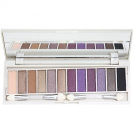 BHcosmetics Enhancing paleta očních stínů se zrcátkem Beautiful Brown Eyes  15,6 g
