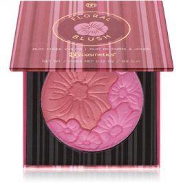 BHcosmetics Floral duo tvářenka se zrcátkem odstín Honolulu Hideaway 9 g