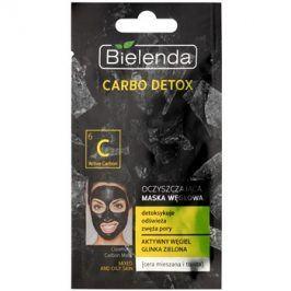 Bielenda Carbo Detox Active Carbon čisticí maska s aktivním uhlím pro smíšenou a mastnou pleť  8 g