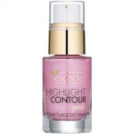Bielenda Highlight & Contour rozjasňovač odstín Pink 15 ml