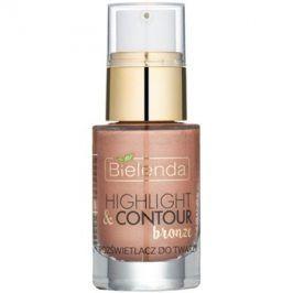 Bielenda Highlight & Contour rozjasňovač odstín Bronze 15 ml