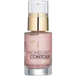Bielenda Highlight & Contour rozjasňovač odstín Peach 15 ml