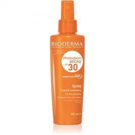 Bioderma Photoderm Bronz ochranný sprej podporující a prodlužující přirozené opálení SPF30  200 ml
