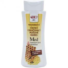 Bione Cosmetics Honey + Q10 regenerační čisticí mléko  255 ml