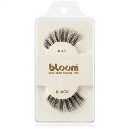 Bloom Natural nalepovací řasy z přírodních vlasů No. 43 (Black) 1 cm