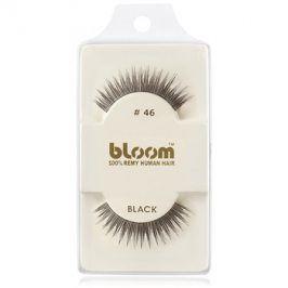 Bloom Natural nalepovací řasy z přírodních vlasů No. 46 (Black) 1 cm