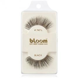 Bloom Natural nalepovací řasy z přírodních vlasů No. 747L (Black) 1 cm