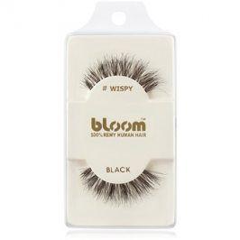 Bloom Natural nalepovací řasy z přírodních vlasů (Wispy, Black) 1 cm
