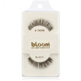 Bloom Natural nalepovací řasy z přírodních vlasů No. 747M (Black) 1 cm