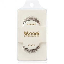 Bloom Natural nalepovací řasy z přírodních vlasů No. 747XS (Black) 1 cm
