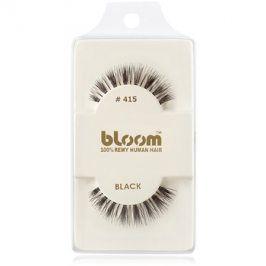 Bloom Natural nalepovací řasy z přírodních vlasů No. 415 (Black) 1 cm