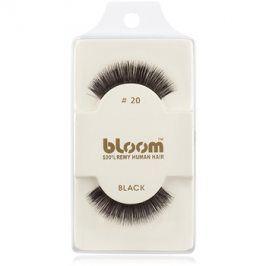 Bloom Natural nalepovací řasy z přírodních vlasů No. 20 (Black) 1 cm