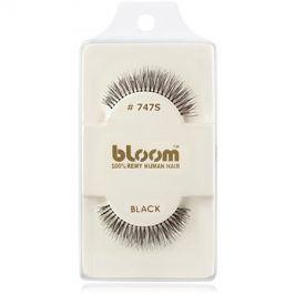 Bloom Natural nalepovací řasy z přírodních vlasů No. 747S (Black) 1 cm
