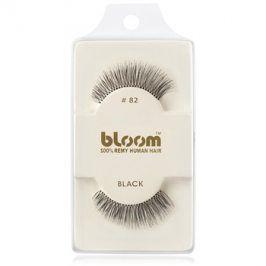 Bloom Natural nalepovací řasy z přírodních vlasů No. 82 (Black) 1 cm