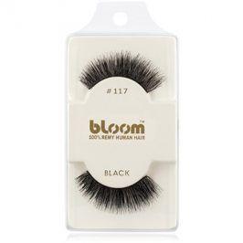 Bloom Natural nalepovací řasy z přírodních vlasů No. 117 (Black) 1 cm