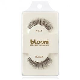Bloom Natural nalepovací řasy z přírodních vlasů No. 213 (Black) 1 cm