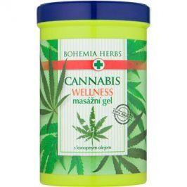Bohemia Gifts & Cosmetics Cannabis masážní gel s konopným olejem  380 ml
