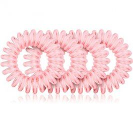 BrushArt Hair Rings gumička do vlasů 4 ks Clear Pink 4 ks
