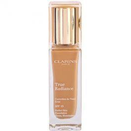 Clarins Face Make-Up True Radiance rozjasňující hydratační make-up pro dokonalý vzhled SPF15 114 Cappuccino  30 ml