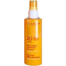 Clarins Sun Protection mléko na opalování ve spreji SPF 20  150 ml