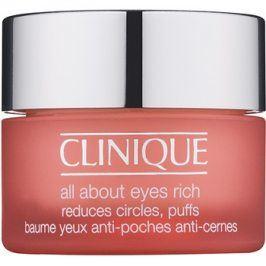 Clinique All About Eyes Rich hydratační oční krém proti otokům a tmavým kruhům  15 ml