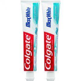 Colgate Max White White Crystals gelová bělicí pasta pro svěží dech příchuť Crystal Mint 2x75 ml