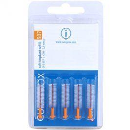 Curaprox Soft Implantat CPS náhradní mezizubní kartáčky na čištění implantátů 5 ks CPS 507 2 - 7,5 mm