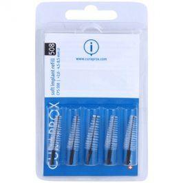 Curaprox Soft Implantat CPS náhradní mezizubní kartáčky na čištění implantátů 5 ks CPS 508 2,0 - 4,5-8,5 mm