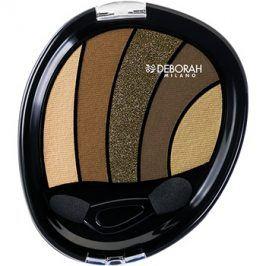 Deborah Milano Perfect Smokey Eye oční stíny s aplikátorem odstín 05 Kaki 5 g