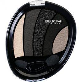 Deborah Milano Perfect Smokey Eye oční stíny s aplikátorem odstín 03 Black Smokey 5 g