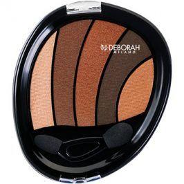 Deborah Milano Perfect Smokey Eye oční stíny s aplikátorem odstín 01 Bronze 5 g