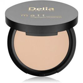 Delia Cosmetics Matt pudr odstín 02 Light Beige 8 g