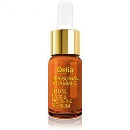 Delia Cosmetics Professional Face Care Vitamin C rozjasňujicí sérum s vitaminem C na obličej, krk a dekolt  10 ml