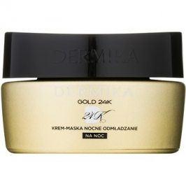 Dermika Gold 24k Total Benefit noční krém-maska s regeneračním účinkem  50 ml