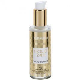 Dermika Gold 24k Total Benefit omlazující sérum pro rozjasnění a vyhlazení pleti  30 ml