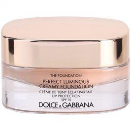 Dolce & Gabbana The Foundation Perfect Luminous Creamy Foundation rozjasňující krémový make-up SPF15 odstín 130 Honey 30 ml