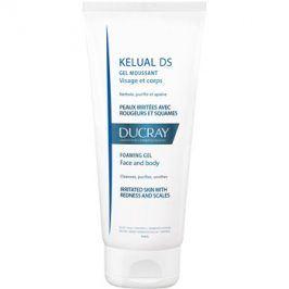 Ducray Kelual DS pěnivý gel pro jemné mytí podrážděné pokožky na obličej a tělo  200 ml