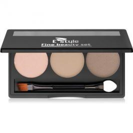 E style Fine Beauty paleta pro líčení obočí odstín 01 Light Brown 5,7 g
