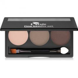 E style Fine Beauty paleta pro líčení obočí odstín 02 Medium Brown 5,7 g
