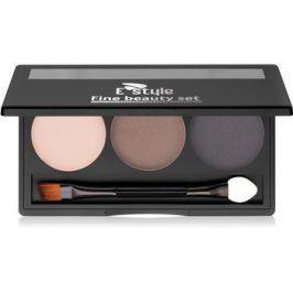 E style Fine Beauty paleta pro líčení obočí odstín 03 Dark Brown 5,7 g