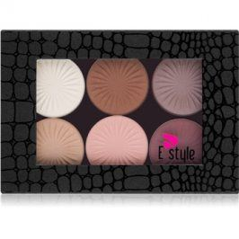 E style Magnetic Palette paleta očních stínů odstín 01 Your Dream 6 x 6 g