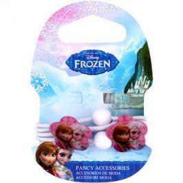 Frozen Princess gumičky do vlasů s kytičkou od 3 let (White) 4 ks