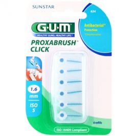 G.U.M Proxabrush Click náhradní mezizubní kartáčky v blistru 6 ks 1,6 mm (Refills)