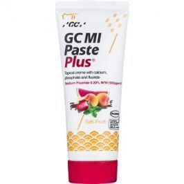 GC MI Paste Plus Tutti-Frutti remineralizační ochranný krém pro citlivé zuby s fluoridem pro profesionální použití  35 ml