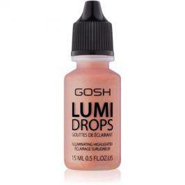 Gosh Lumi Drops tekutý rozjasňovač odstín 004 Peach 15 ml