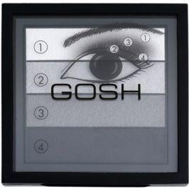 Gosh Smokey paleta očních stínů odstín 01 Black 8 g