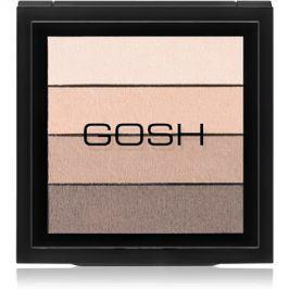 Gosh Smokey paleta očních stínů odstín 02 Brown 8 g