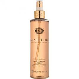 Grace Cole Boutique Vanilla Blush & Peony osvěžující tělový sprej  250 ml