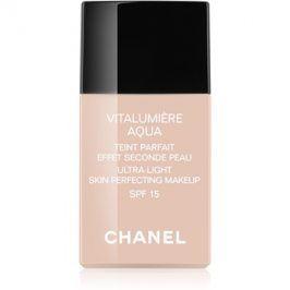 Chanel Vitalumiére Aqua ultra lehký make-up pro zářivý vzhled pleti odstín 42 Beige Rose  SPF 15 30 ml